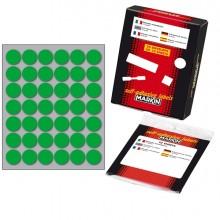 Etichetta Adesiva Verde Tonda Ø18Mm (10Fogli X 42Etichette) Markin