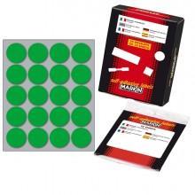 Etichetta Adesiva Verde Tonda Ø27Mm (10Fogli X 20Etichette) Markin