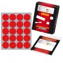 Etichetta Adesiva Rosso Tonda Ø27Mm (10Fogli X 20Etichette) Markin