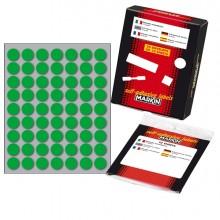 Etichetta Adesiva Verde Tonda Ø14Mm (10Fogli X 63Etichette) Markin