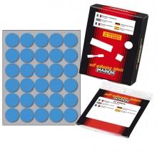Etichetta Adesiva Blu Tonda Ø22Mm (10Fogli X 30Etichette) Markin