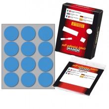 Etichetta Adesiva Blu Tonda Ø34Mm (10Fogli X 12Etichette) Markin