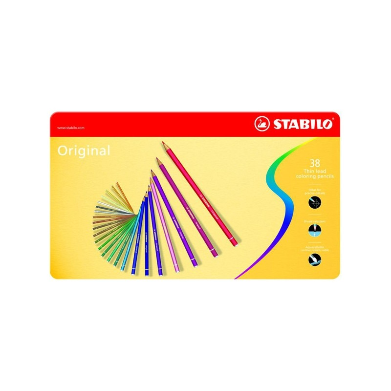 Astuccio Metallo 36 Pastelli Stabilo Original 8778