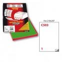 Etichetta Adesiva C/503 Verde 100Fg A4 210X297Mm (1Et/Fg) Markin