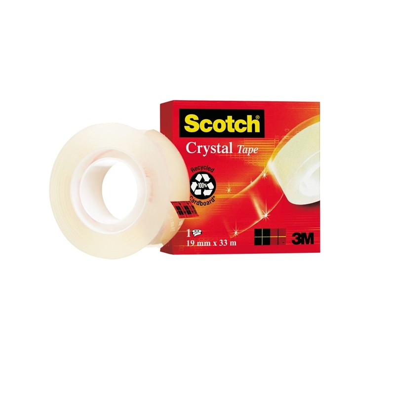 Nastro Adesivo Scotch Crystal Clear 600 33Mtx19Mm