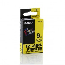 Nastro Casio 9Mm X 8Mt Nero Su Giallo