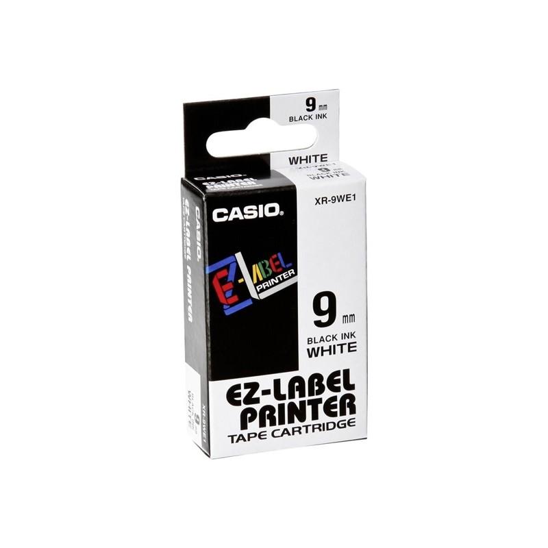 Nastro Casio 9Mm X 8Mt Nero Su Bianco