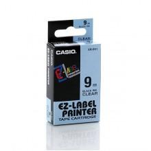 Nastro Casio 9Mm X 8Mt Nero Su Trasparente