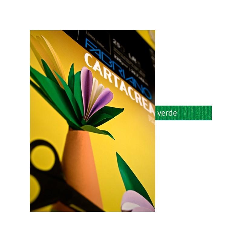 Blister 10Fg Cartoncino 35X50Cm 220Gr Verde Cartacrea Fabriano