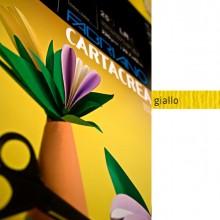 Blister 10Fg Cartoncino 35X50Cm 220Gr Giallo Cartacrea Fabriano