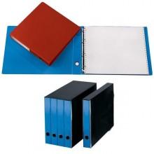 Portatabulati Singolo 4Anelli 31.5X29Cm Azzurro 204U (conf.2)