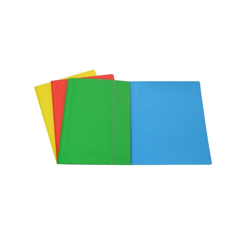 Cartellina C/Elastico Cartone Plastificato 35X50Cm Azzurro 35El