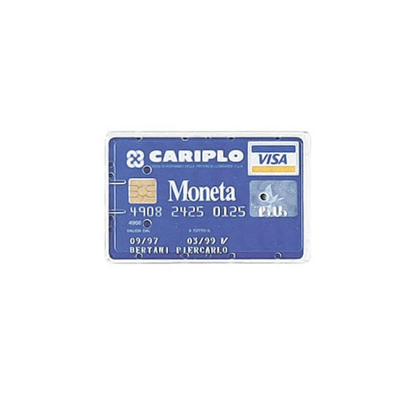 BUSTA PORTA CARDS 8,5X5,4 02/7828 PVC RIGIDO TRASPARENTE FAVORIT (conf. 100 )