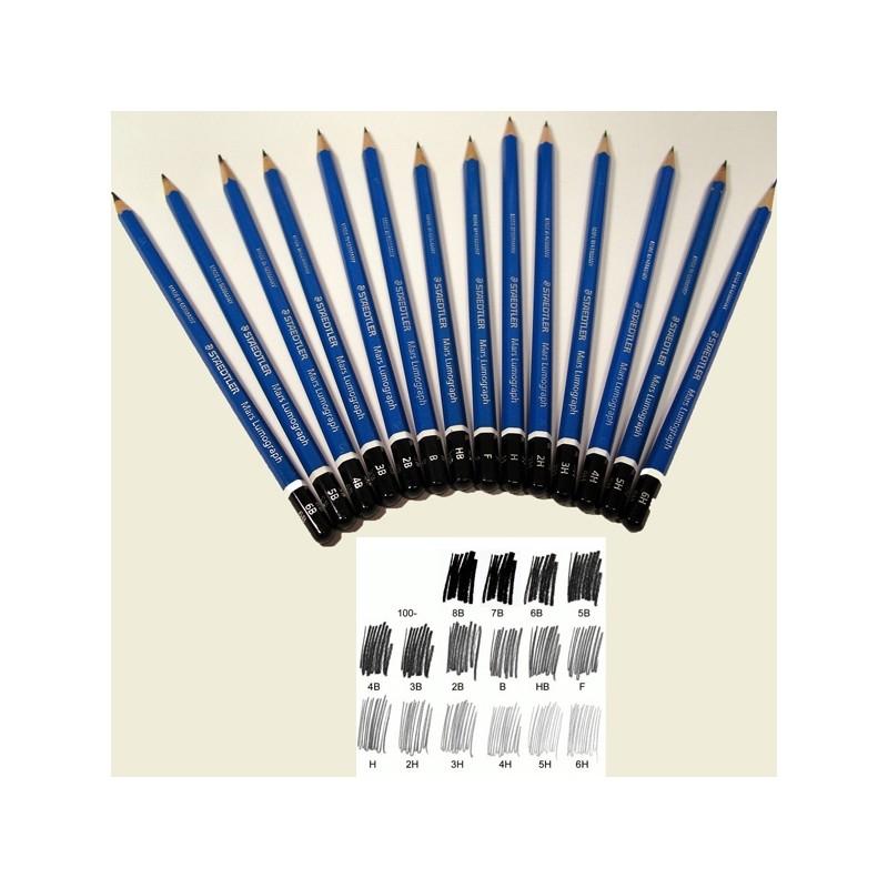 Matita grafite Mars® Lumograph® 100-6H Staedtler (conf. 12 )