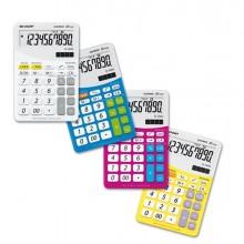 Calcolatrice El M332B 10 Cifre Da Tavolo Sharp Colore Giallo