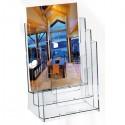 Portadepliant In Polistirolo Trasparente 23X33X14Cm Art.5024