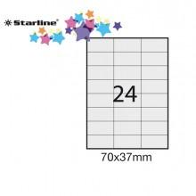 Etichetta Adesiva Bianca 100Fg A4 70X37Mm (24Et/Fg) Starline