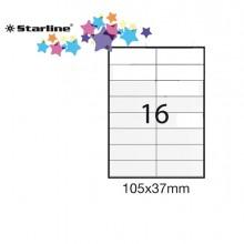 Etichetta Adesiva Bianca 100Fg A4 105X37Mm (16Et/Fg) Starline