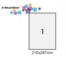 Etichetta Adesiva Bianca 100Fg A4 210X297Mm (1Et/Fg) Starline