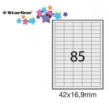 Etichetta Adesiva Bianca 100Fg A4 42X16,9Mm (85Et/Fg) Starline