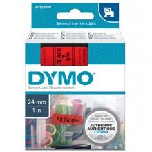 Nastro Dymo Tipo D1 (24Mmx7Mt) Nero/Rosso 537170