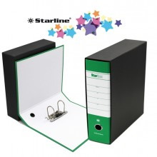 Registratore STARBOX f.to commerciale dorso 8cm verde STARLINE
