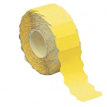 Rotolo 1500 etichette 26x12mm giallo fluo permanenti a onda Markin (conf. 16 )