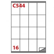 Etichetta Adesiva C/544 Bianca 100Fg A4 72X53Mm (16Et/Fg) Markin