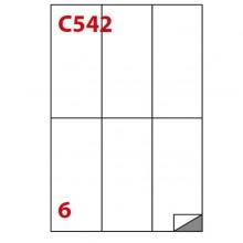 Etichetta Adesiva C/542 Bianca 100Fg A4 70X148Mm (6Et/Fg) Markin