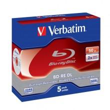 Scatola 5 Blu Ray Bd-Re Dl 50Gb 2X Rescrivibile Jewel Case