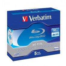 Scatola 5 Dvd Blu Ray Bd-R Sl 50Gb 6X Spindle Mabl White/Blu