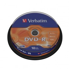 Scatola 10 Dvd-R Spindle 16X 4.7Gb 120Min.Serigrafato