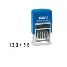 Timbro Mini Numeratore S126 6Colonne 3,8Mm Autoinchiostrante Colop