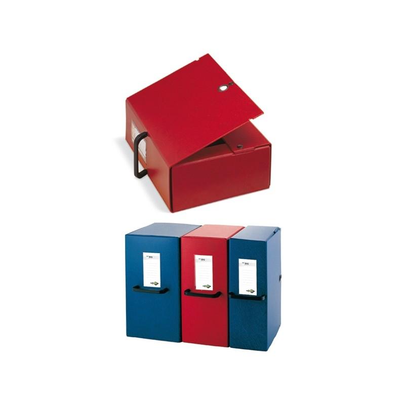 Scatola Archivio Big 120 250X350Mm Rosso C/Maniglia Sei Rota