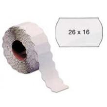Rotolo 1000 etichette 26x16mm bianche rimovibili a onda Markin (conf. 16 )