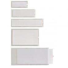 10 Portaetichette Adesive Iesti A4 65X140Mm Trasparente Sei