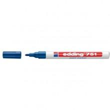 Marcatore Edding 751 Punta Fine Vernice Blu