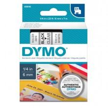 Nastro Dymo Tipo D1 (6Mmx7Mt) Nero/Trasparente 436100