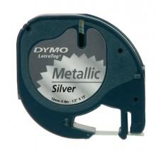 Nastro Metallico Dymo Letratag 12Mmx4M Argento 912080