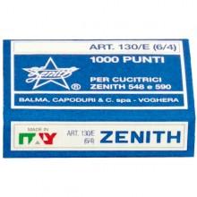 SCATOLA 1000 PUNTI ZENITH 130/E S100 (6/4) IN ACCIAIO NATURALE (conf. 100 )