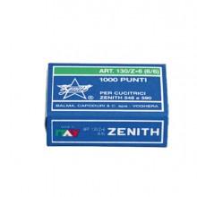 SCATOLA 1000 PUNTI ZENITH 130/Z6 (6/6) IN ACCIAIO ZINCATO (conf. 10 )
