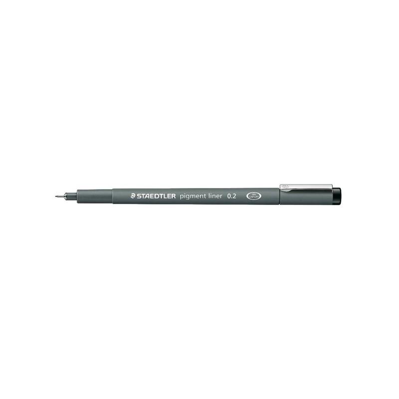 Pennarello Pigment Liner 308 nero 0,2mm Staedtler (conf. 10 )