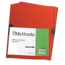 Cartellina Pvc C/Molla Dorso 5 Rosso Spring File 22X31 (conf.5)