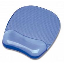 Mouse Pad Con Poggiapolsi In Gel Trasparente Blu