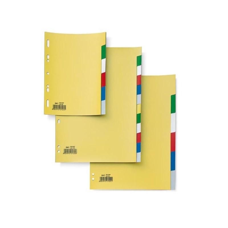 Separatore 6 Tasti Colorati 21X29,7 Ppl Record Sa46N Sei