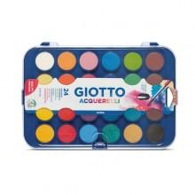Colori Acquerello In 24 Colori Pastiglie Da Diam30Mm Giotto