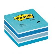 Blocco Cubo 450Foglietti Post-It 76X76Mm 2028-B Pastello Blu