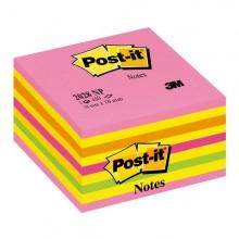 Blocco Cubo 450Foglietti Post-It 76X76Mm 2028-Np Neon Rosa