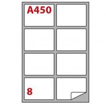 Etichetta Adesiva A/450 Bianca 100Fg A4 99,1X67,7Mm (8Et/Fg) Markin