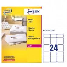Etichetta Adesiva L7159 Bianca 100Fg A4 63,5X33,9Mm (24Et/Fg) Avery